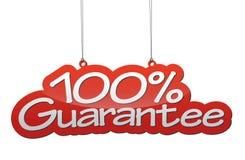 Fundo uma garantia de 100 por cento Foto de Stock Royalty Free