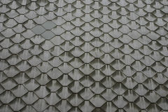 Fundo: uma lona de elementos metálicos cinzentos dos polígono Imagens de Stock Royalty Free