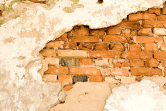 Fundo uma parede de tijolo Fotos de Stock Royalty Free
