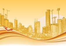 Fundo urbano ilustração do vetor
