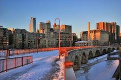 Fundo urbano da arquitetura da cidade, opinião do inverno imagem de stock royalty free