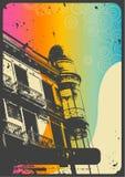 Fundo urbano do vintage Imagens de Stock