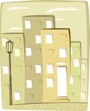 Fundo urbano dos desenhos animados Imagens de Stock