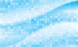 Fundo vívido abstrato azul do fluxo ilustração do vetor