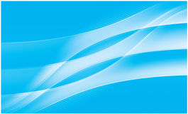 Fundo vívido azul abstrato do fluxo ilustração do vetor
