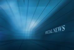 Fundo vazio abstrato Conce da notícia de BlueTheme Speical do espaço 3D Fotos de Stock Royalty Free