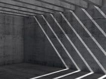 Fundo vazio abstrato do interior do concreto 3d Foto de Stock Royalty Free