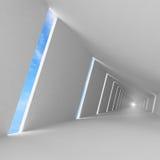 Fundo vazio abstrato do interior do branco 3d Imagens de Stock