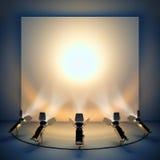 Fundo vazio com projector da fase. ilustração stock