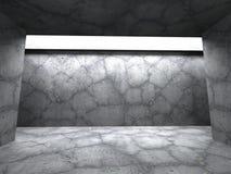 Fundo vazio concreto escuro do interior da sala ilustração do vetor