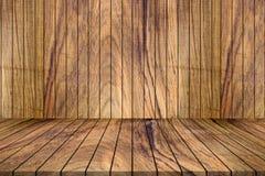 Fundo vazio da madeira da teca Fundo de madeira da placa de tabela Natur fotos de stock
