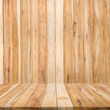 Fundo vazio da madeira da teca Fundo de madeira da placa de tabela Natur foto de stock