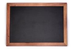 Fundo vazio da placa de giz Quadro-negro vazio com quadro de madeira fotografia de stock royalty free