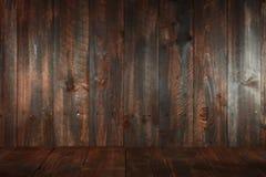 Fundo vazio sujo de madeira. Introduza o texto ou os objetos fotografia de stock