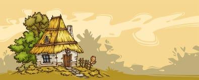 Fundo velho da casa de campo ilustração royalty free