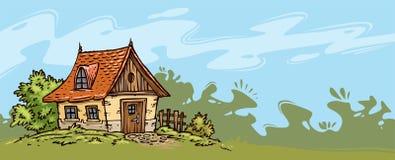Fundo velho da casa de campo ilustração do vetor