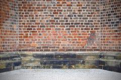 Fundo velho da parede de tijolo do vintage imagens de stock