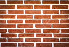 Fundo velho da parede de tijolo na cor vermelha Imagens de Stock
