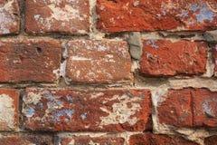 Fundo velho da parede de tijolo fotos de stock