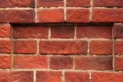 Fundo velho da parede de tijolo vermelho imagem de stock