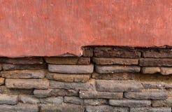 Fundo velho da parede de tijolos Fotografia de Stock