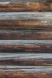 Fundo velho da parede do log Imagens de Stock