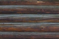 Fundo velho da parede do log Imagem de Stock Royalty Free