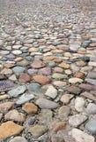 Fundo velho da textura da estrada da pedra Fotos de Stock Royalty Free