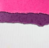 Fundo velho da textura da lona com teste padrão delicado das listras e papel rasgado vintage Imagens de Stock