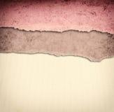 Fundo velho da textura da lona com teste padrão delicado das listras e papel rasgado vintage Imagem de Stock Royalty Free