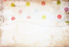 Fundo velho da textura da lona com teste padrão delicado das listras e papel rasgado vintage Imagem de Stock