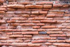 Fundo velho da textura da parede de tijolo vermelho Foto de Stock
