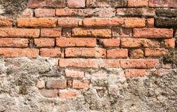 Fundo velho da textura da parede de tijolo vermelho Fotos de Stock Royalty Free