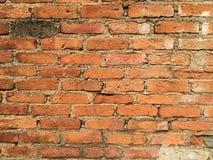 Fundo velho da textura da parede de tijolo vermelho Fotos de Stock