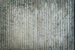 Fundo velho da textura do zinco, oxidado na superfície de metal galvanizada foto de stock royalty free