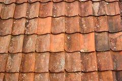 Fundo velho das telhas de telhado Imagem de Stock Royalty Free