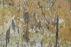 Fundo velho do amarelo do vintage da textura do Grunge da prancha de madeira Listras horizontais fotos de stock