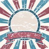 Fundo velho do americano das cores Foto de Stock