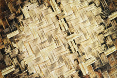 Fundo velho do bambu do Weave Foto de Stock Royalty Free