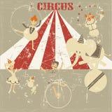 Fundo velho do grunge do circo Imagens de Stock