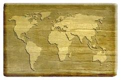 Fundo velho do mapa Fotografia de Stock