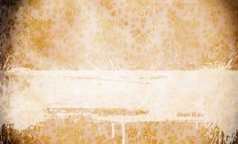 Fundo velho do papel do grunge com testes padrões florais Fotos de Stock