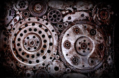 Fundo velho e sujo da solda da engrenagem da roda do metal Imagem de Stock Royalty Free
