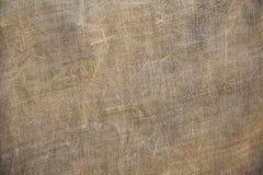 Fundo velho rústico da textura de serapilheira da tela Foto de Stock