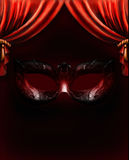Fundo Venetian da máscara ilustração royalty free