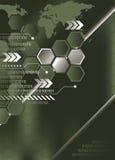 Fundo verde abstrato ilustração stock