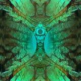 Fundo verde abstrato da fantasia Imagens de Stock