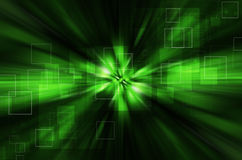 Fundo verde abstrato da tecnologia Imagens de Stock