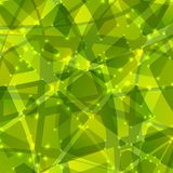 Fundo verde abstrato do triângulo Foto de Stock