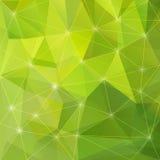 Fundo verde abstrato do triângulo Foto de Stock Royalty Free
